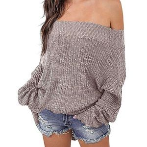 Sweaters - Off the shoulder oversized comfy sweater!